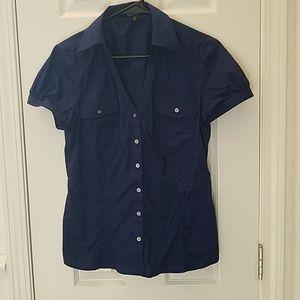 Express Essential Stretch SS Shirt-Cobalt blue